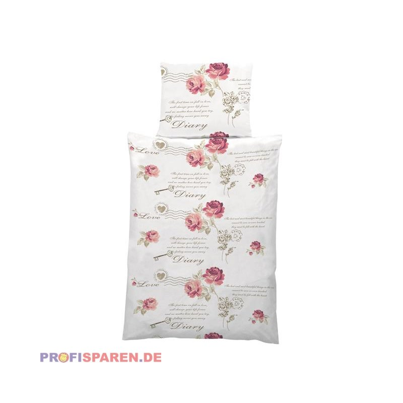 Bettwäsche Diary Rose 2tlg135x200cm Landhausstil Vintage 1499 Eur