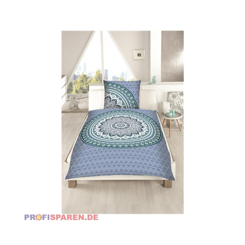 bettw sche mandala 100 umwolle mako satin in t rkis. Black Bedroom Furniture Sets. Home Design Ideas