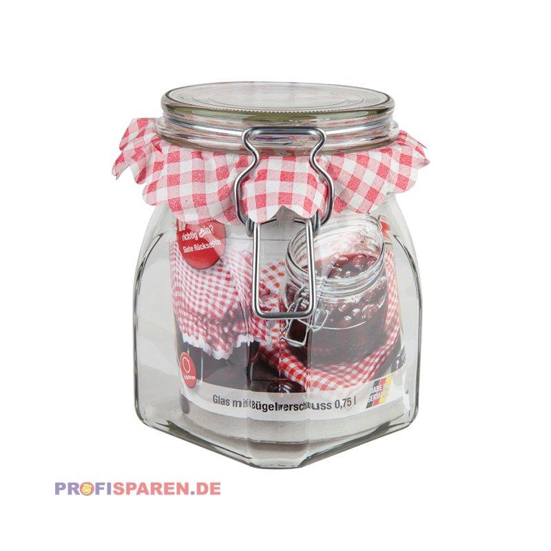 Einkochglas & Vorratsglas 0,5 L mit Bügelverschluss, 2,79 €