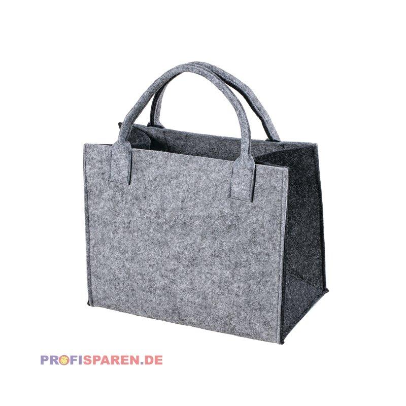 1ea5e84a23ad5 Filztasche grau-dunkelgrau Einkaufstasche Einkaufsshopper Freizeittas