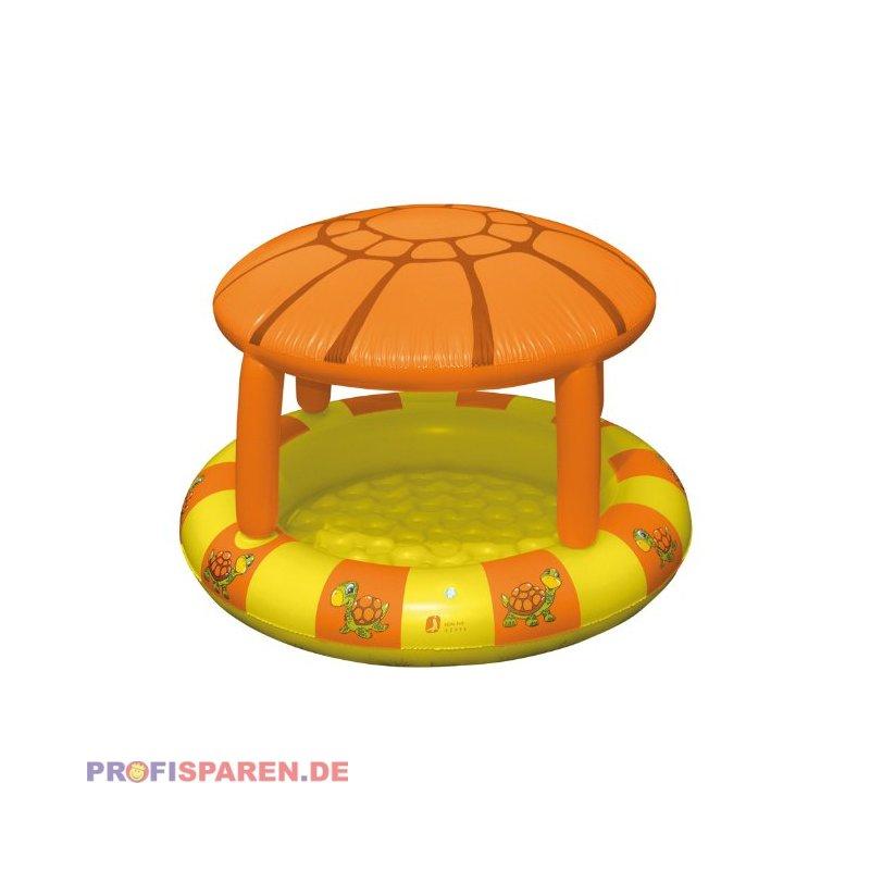 planschbecken mit sonnendach turtle 115x78cm kinderpool. Black Bedroom Furniture Sets. Home Design Ideas