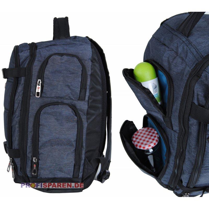 sport rucksack grau rippstop nylon gurt f r sportsachen. Black Bedroom Furniture Sets. Home Design Ideas
