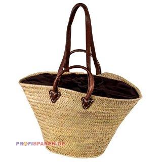 10 x Strandtasche Korbtasche Freizeittasche Lederhenkel Taschen mit Ledergriffen