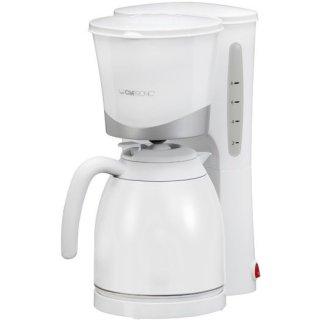Kaffeeautomat weiß mit Thermokanne