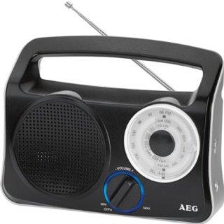 Tragbares Transistorradio schwarz-silber