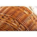 Wäschekorb Vollweide, natur, bauchige Form mit Baumwolleinsatz - Wäschepuff, Wäschetruhe