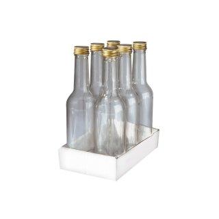 6er Glasflasche 350ml zum Abfüllen von Selbstgemachtem - Saftflasche - Likörflasche