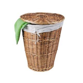 Wäschekorb Weide mit Baumwolleinsatz Höhe ca. 55 cm