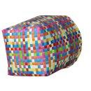 Wäschetasche aus geflochtenen Kunststoffbändern multicolor - Aufbewahrungskorb Allzweckkorb