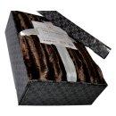 Kuscheldecke Deluxe Nerzfell-Optik 150x200cm, Farbe braun