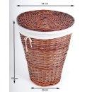 Wäschekorb Weide mit Baumwolleinsatz Höhe ca....