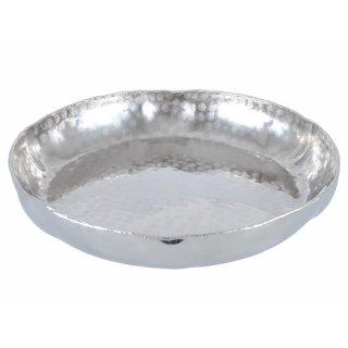 Schale Aluminium 27cm gewellter Rand