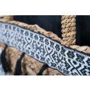 Korbtasche MAYA aus Seegras im IBIZA - Stil, in schwarz