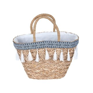Korbtasche MAYA aus Seegras im IBIZA - Stil, in weiss