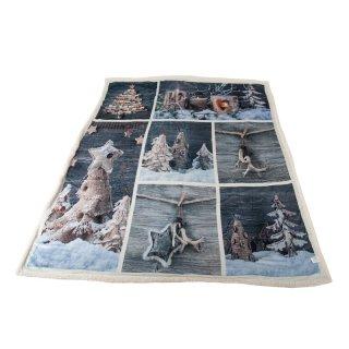 Winter-Kuscheldecke, Weihnachtsdekoration für Bett und Sofa