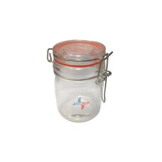 Einkochglas mit Glasdeckel & Drahtbügel 150ml 6,2x9,5cm