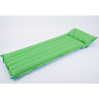 Gummierte Baumwoll-Luftmatratze 196x72cm Farbe: türkis-grün