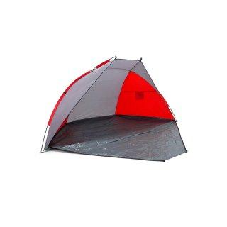 Strandmuschel 270x120x120cm Farbe: grau/rot
