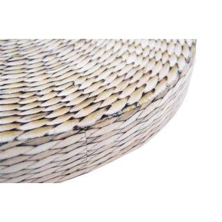 Sitzkissen FLECHT-Print aus samtigen Material mit Schaumstoffkern