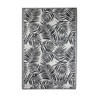 "Outdoor-Teppich ""Jungle Leaves"" 120x180cm schwarz-weiss"