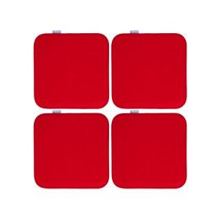 MAJUCA Sitzkissen 4er-Set, 35x35cm, Filzkissen verschied. Farben