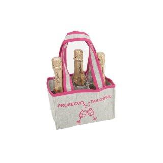 MAJUCA Flaschentasche PROSECCO-TASCHERL für Prinzessinnen, 23 x14,5cm, 5 x14cm
