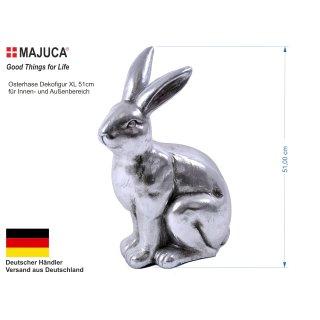 "Hase XXL ""Silver Rabbit"" antik 36x21,5x51cm"
