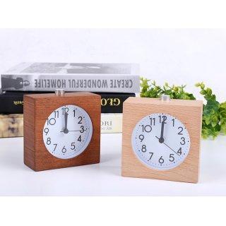 Wecker Tischuhr Holz mit Leisegang-Werk und Snooze