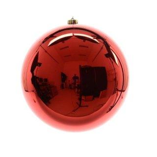 Weihnachts-Kugel bruchfest glänzend 140mm weihnachtsrot