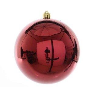 Weihnachts-Kugel bruchfest glänzend 140mm ochsenblut