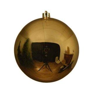 Weihnachts-Kugel bruchfest glänzend 140mm hellgold