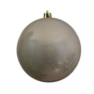 Weihnachts-Kugel bruchfest glänzend 140mm perle