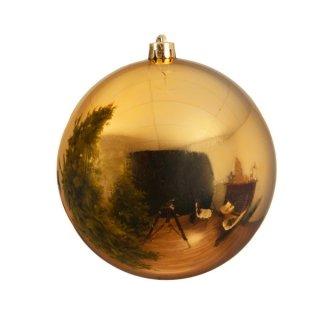 Weihnachts-Kugel bruchfest glänzend 200mm hellgold