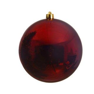 Weihnachts-Kugel bruchfest glänzend 200mm ochsenblut