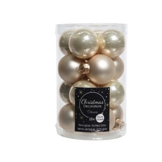 16er Glaskugeln 35mm perle glanz/matt