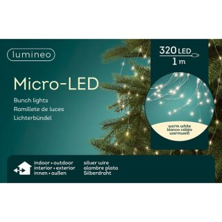 Micro-Lichterkette Bündel 100cm-320L Outdoor warmweiss