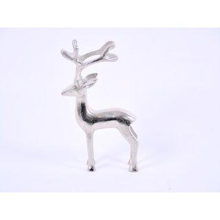 Hirsch Metall silber 12 x 4,5 x 20,5cm
