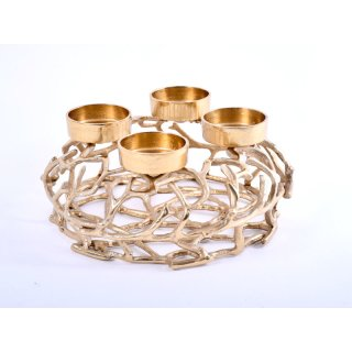 Adventskranz Metall Äste 35cm gold
