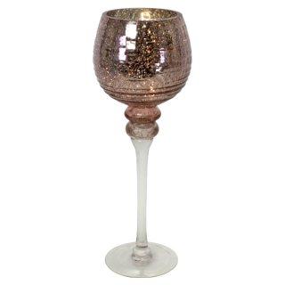 Windlicht Florence 40cm champagner-rose