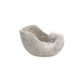 Pflanzmuschel Keramik weis gewischt 26,5x18,5x15 cm