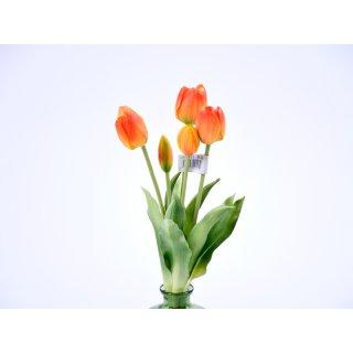 5er Tulpen-Strauß Real-Touch 40cm orange