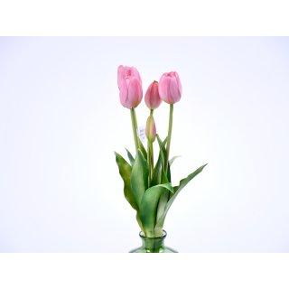 5er Tulpen-Strauß Real-Touch 40cm flieder