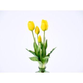 5er Tulpen-Strauß Real-Touch 40cm gelb