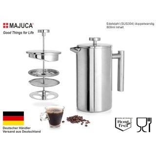 Kaffeebereiter Doppelwandig Edelstahl Kaffeekanne French Press Kaffeepresse