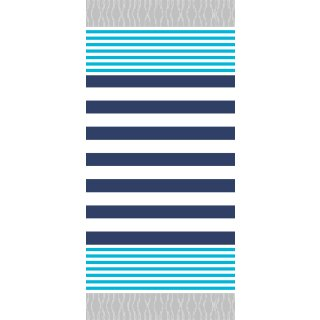 Streifen türkis-navy