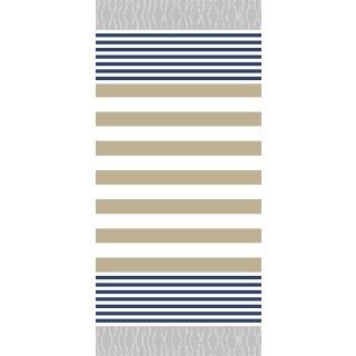 Streifen navy-beige