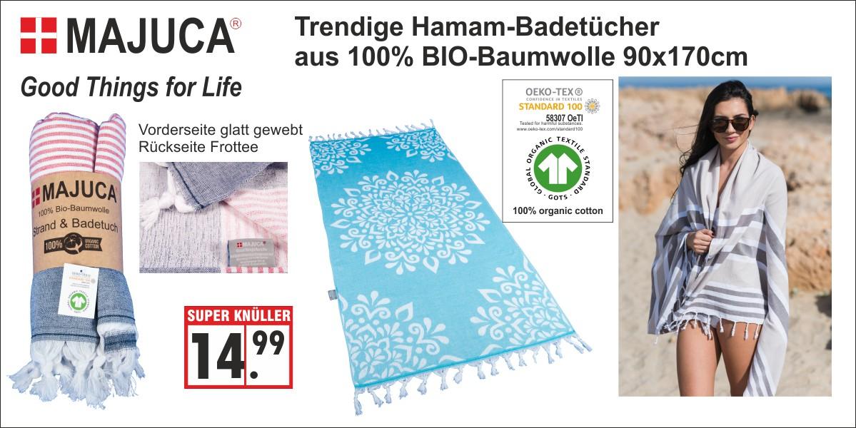 Hamam-Badetuch 100% Bio-Baumwolle